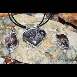 Outback Jasper Pendant & Earrings Set